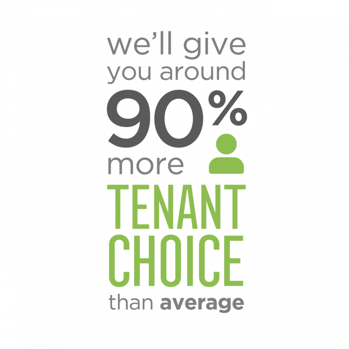 90% More Tenant Choice